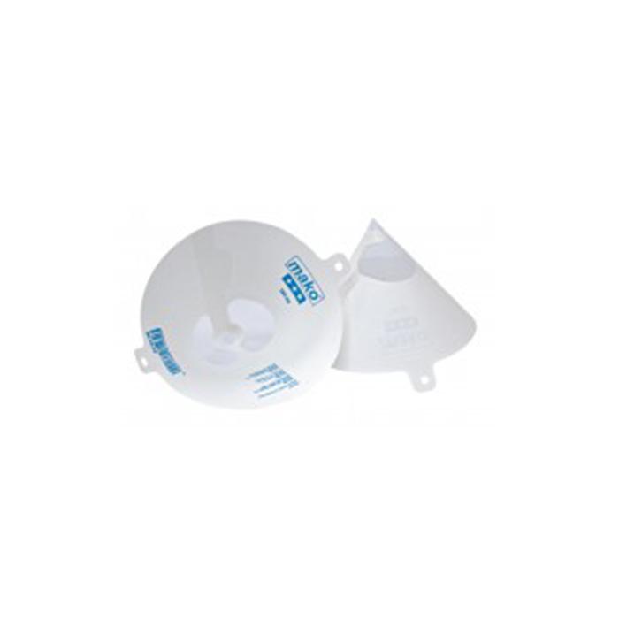 Ideal zum Sieben von Flüssigkeiten aller Art. Pappe mit Nyloneinsatz. 190 my.-Geräte und Zubehör-Einweg-Sieb-Mako