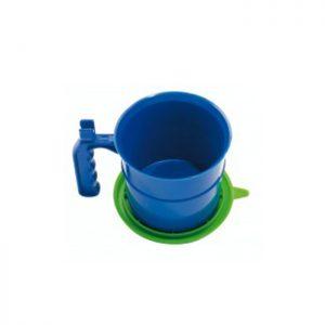 Zum Abfüllen von Farben und Lacken. Strapazierfähiger Kunststoffbehälter mit Handgriff, Pinselhalter und Verschlussdeckel, SB-Etikett.-Geräte und Zubehör-Farbtopf-Rund-Mako