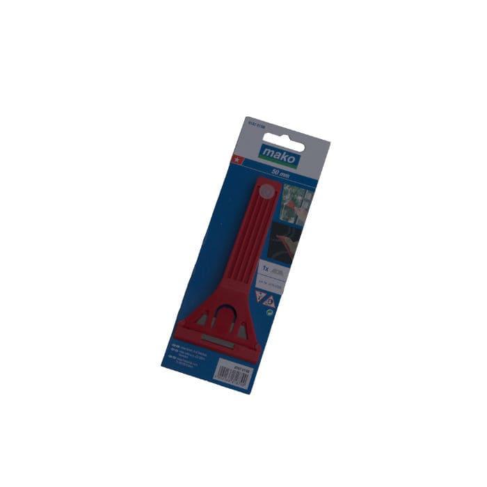 Glasschaber (1 Stern), Trapezklinge mit Schutzkappe
